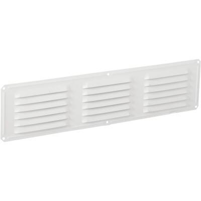 Air Vent 16 In. x 4 In. White Aluminum Under Eave Vent