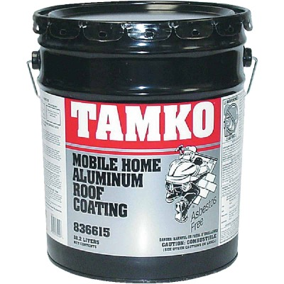 Tamko 5 Gal. Fibered Aluminum Mobile Home Roof Coating