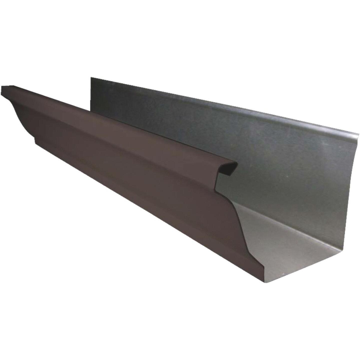NorWesco 4 In. x 10 Ft. K-Style Brown Galvanized Gutter Image 1