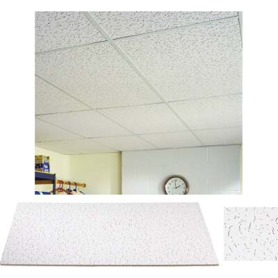 Fifth Avenue 2 Ft. x 4 Ft. White Mineral Fiber Square Edge Ceiling Tile (8-Count)