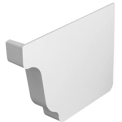 Repla K 5 In. Vinyl White Right Gutter End Cap