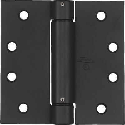 National 4 In. Oil Rubbed Bronze Square Spring Door Hinge