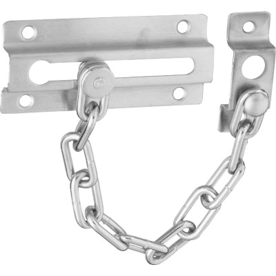 National Satin Chrome Security Chain Door Guard
