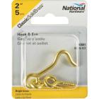 National Solid Brass 2 In. Hook & Eye Bolt Image 2