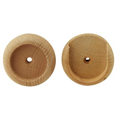 Do it 1-3/8 In. Wood Closet Rod Socket, Natural (2-Pack)