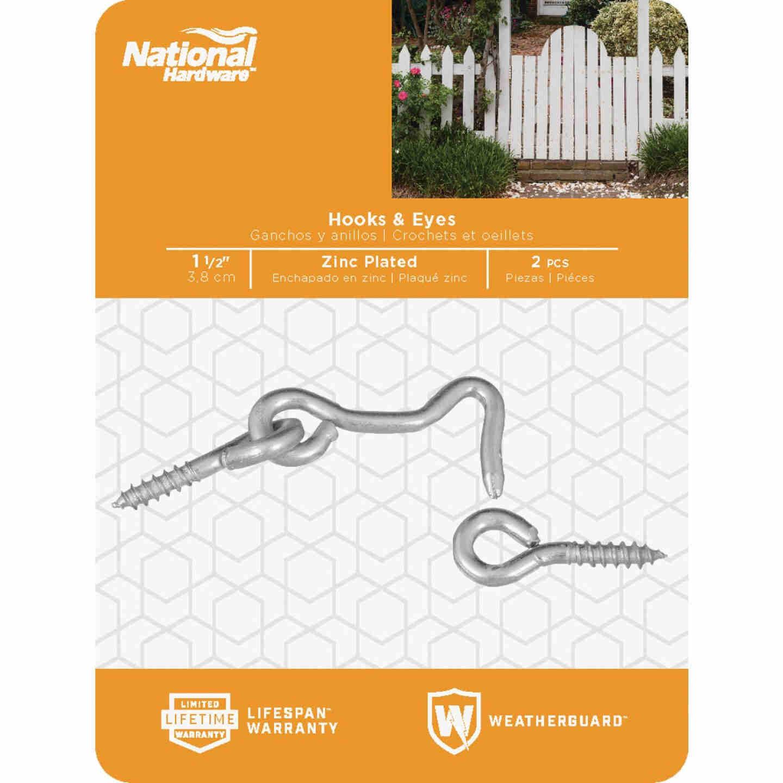 National 1-1/2 In. Steel Hook & Eye Bolt (2 Ct.) Image 2