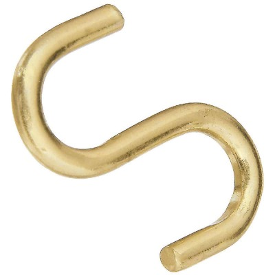 National 1 In. Brass Heavy Open S Hook (3 Ct.)