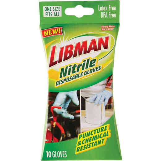 Libman Disposable Nitrile Glove (10 Pack)