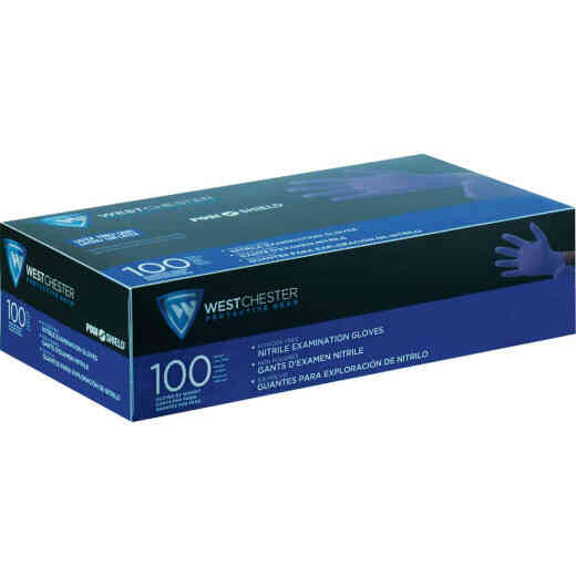 West Chester Protective Gear Posi Shield Medium Exam Nitrile Disposable Glove (100-Pack)