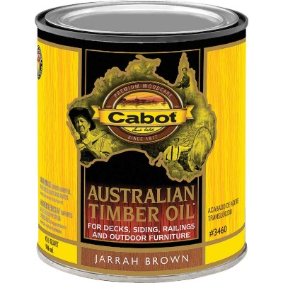 Cabot Australian Timber Oil Translucent Exterior Oil Finish, Jarrah Brown, 1 Qt.