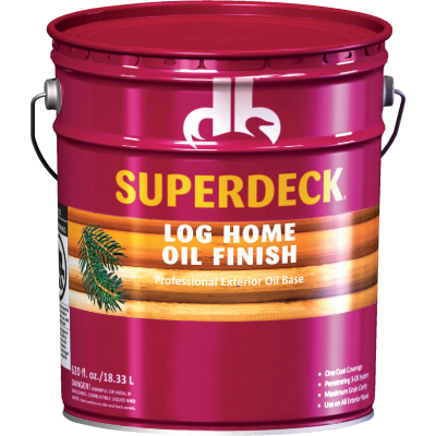 Duckback SUPERDECK VOC Translucent Log Home Oil Finish, Golden Honey, 5 Gal.